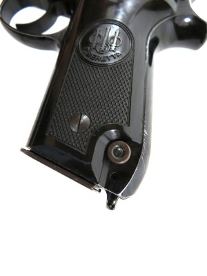 Magazine release button on the Beretta 92S