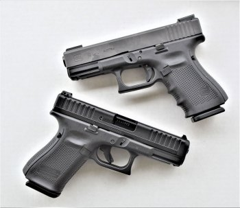 the Glock 19 is slightly beefier than the Glock M44