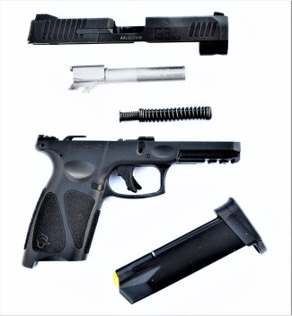 Field Stripped Taurus G3 pistol
