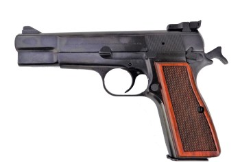 Browning Hi Power pistol left profile
