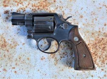 smith and wesson J Frame revolver as carried by Joe Friday in the TV series Dragnet