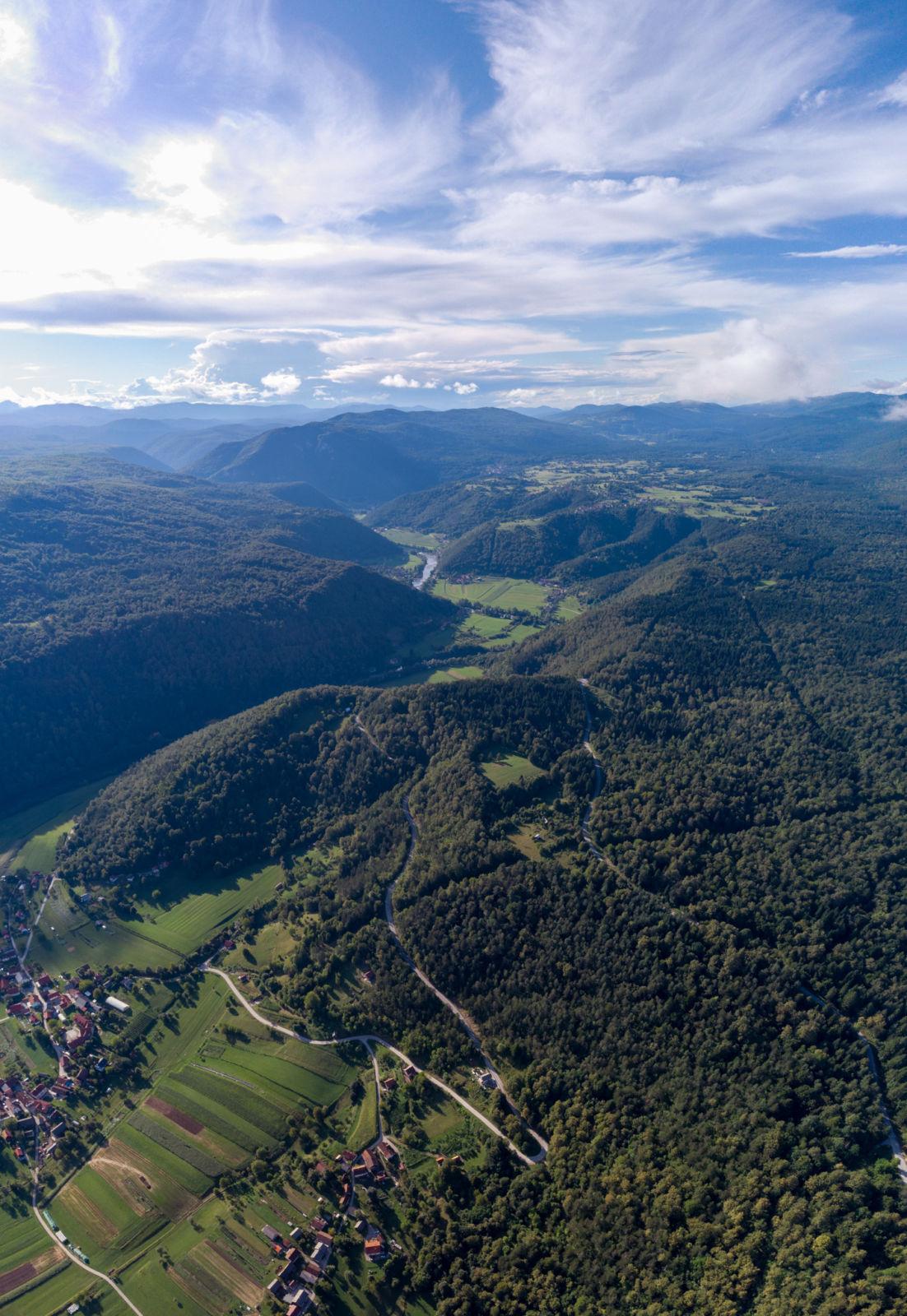 Pogled iz zraka na reko Kolpo