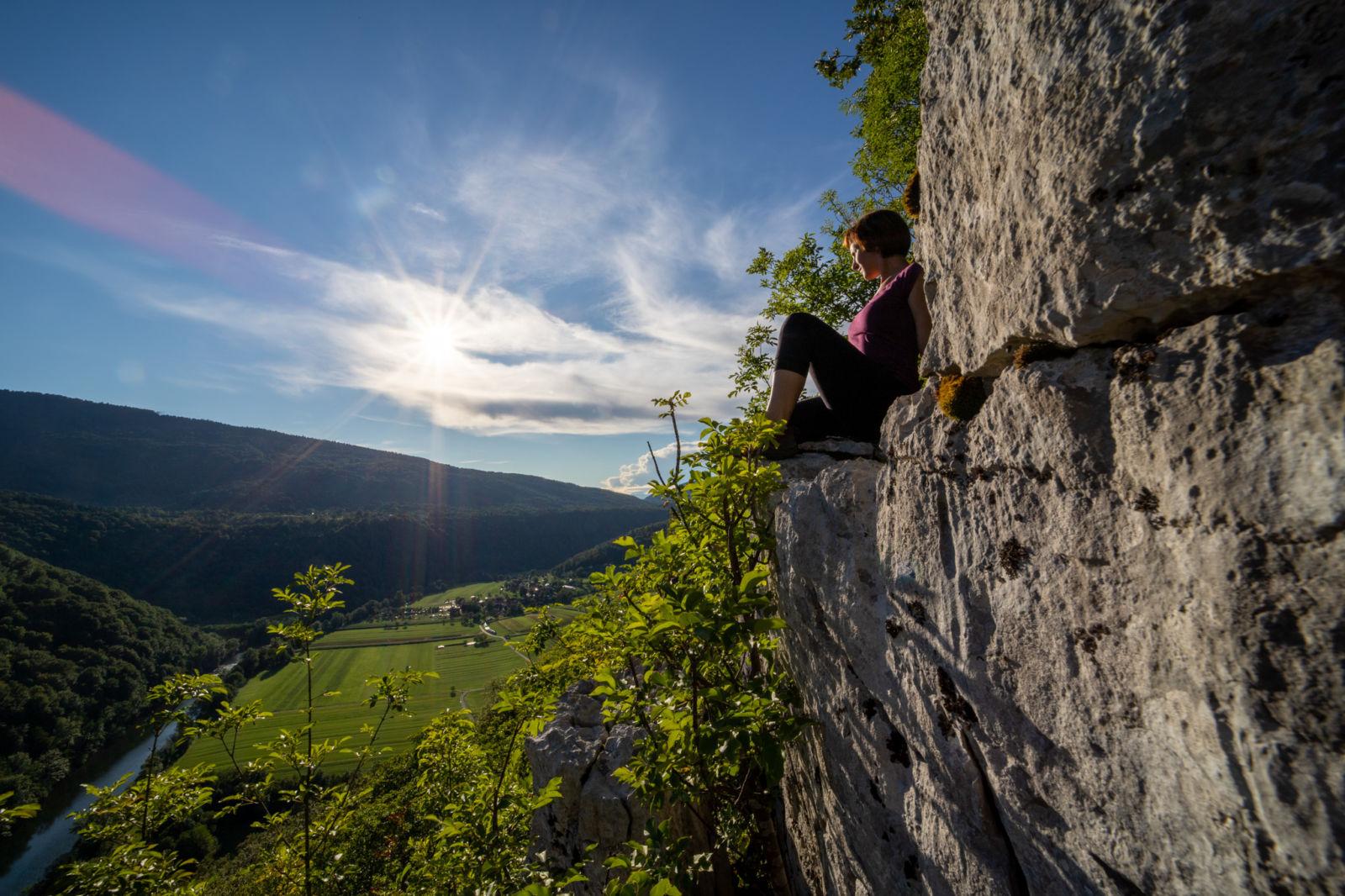 Ana na Radenski steni nad Kolpo