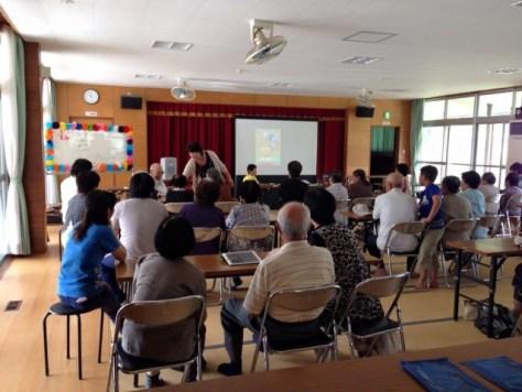 地元旧吉田町の敬老会のイベント