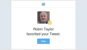 New Tweet Favorited Email