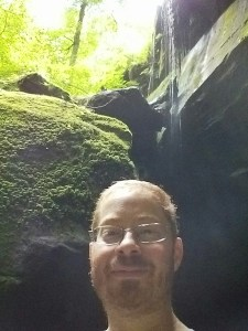 At the bottom of Little Lyons Falls, Perrysville, Ohio