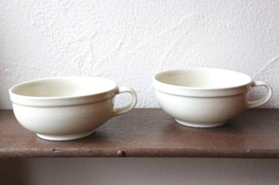 瀬戸一里塚窯 灰釉 スープカップ
