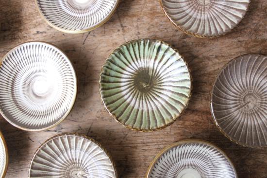 小鹿田焼の小皿