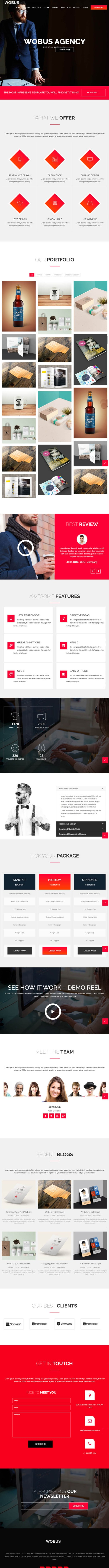 Wobus – Onepage & Multi Pages Business WordPress Theme