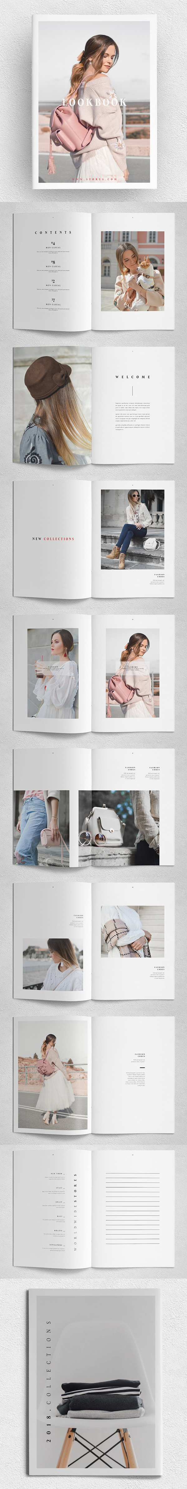 Plantilla de folleto - increíble lookbook