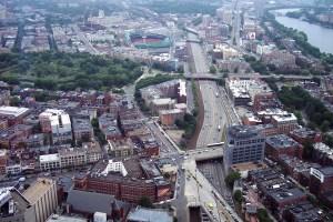 A bird's-eye view of Boston.  Photo (c) Nathaniel Hammond