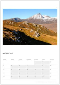 January - Dawn over Quinag