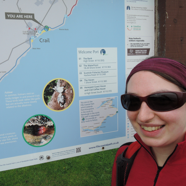 Mile 66 - Crail. Sponsored by Lorna and Ken Wilson, Colin Aimers, John Gaskell and Stina and Robert MacDonald.