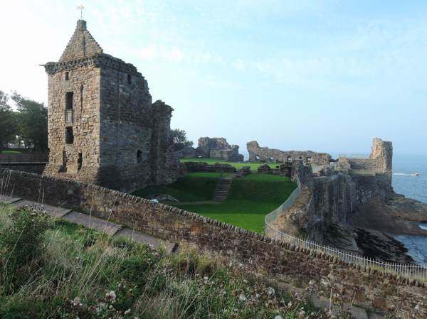 Mile 80 - St Andrews Castle. Sponsored by Janice and Gordon Thorburn, Fraser Bell, Richard Barker, Colin Aimers, and Stina and Robert MacDonald.