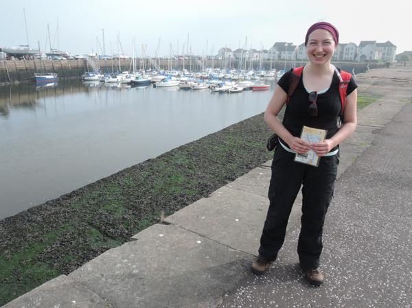 Mile 96 - Tayport Harbour. Sponsored by Janice and Gordon Thorburn, Richard Barker, Stephanie Kiel and Jim Hampson.
