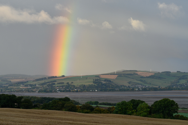 Rainbow over Dingwall from Findon, Black Isle