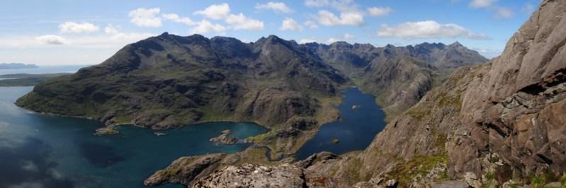 Cuillin Ridge and Loch Coruisk from Sgurr na Stri, Isle of Skye