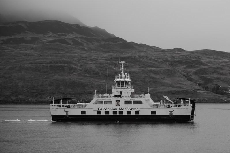 Raasay Ferry leaving Sconser, Skye