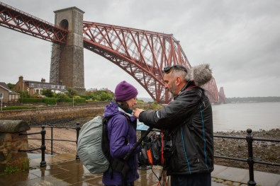 Filming with BBC Countryfile at North Queensferry