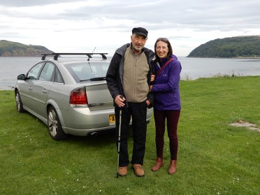 Me and Dad on the Black Isle, September 2017