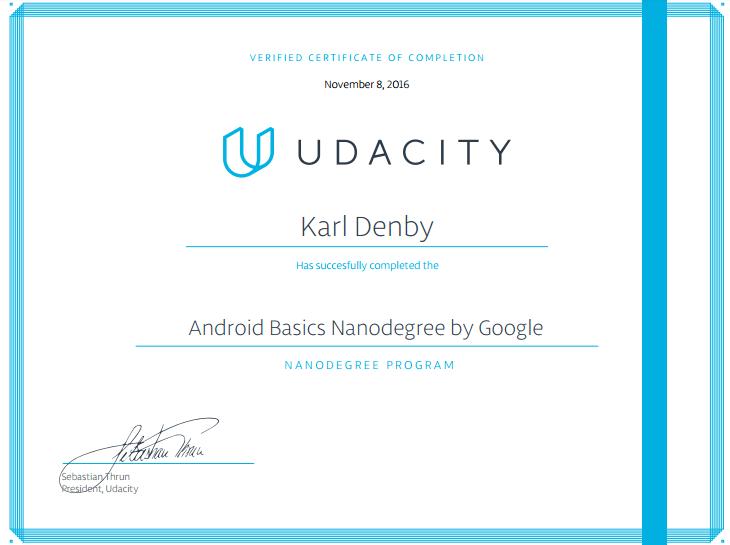 Certifications | Karl Denby