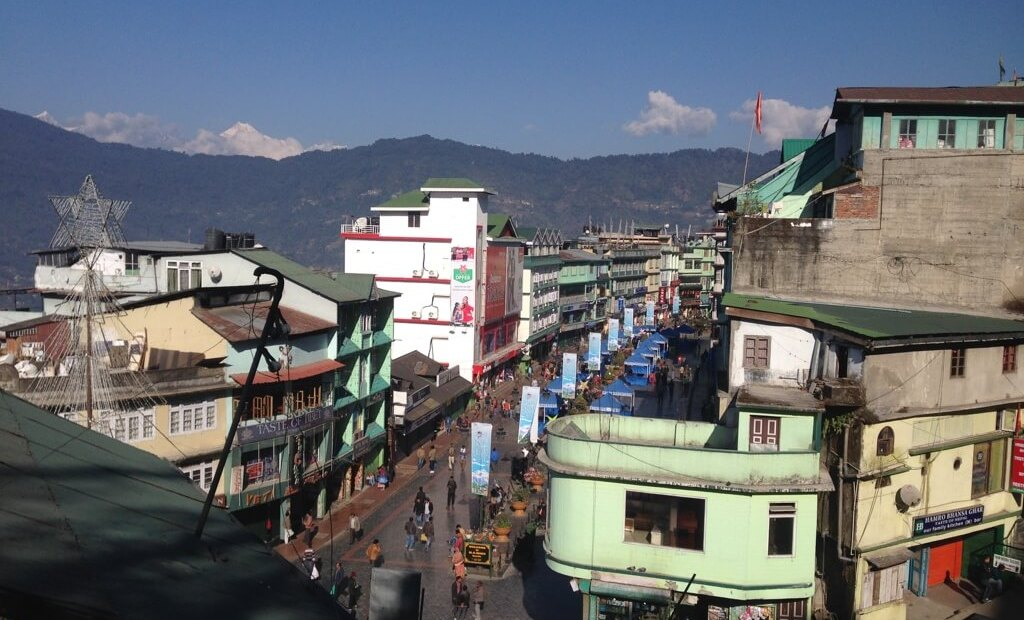 Main road Gangtok, Sikkim. Photo by Karl Rock..