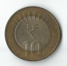 Real 10 Rupee Coin