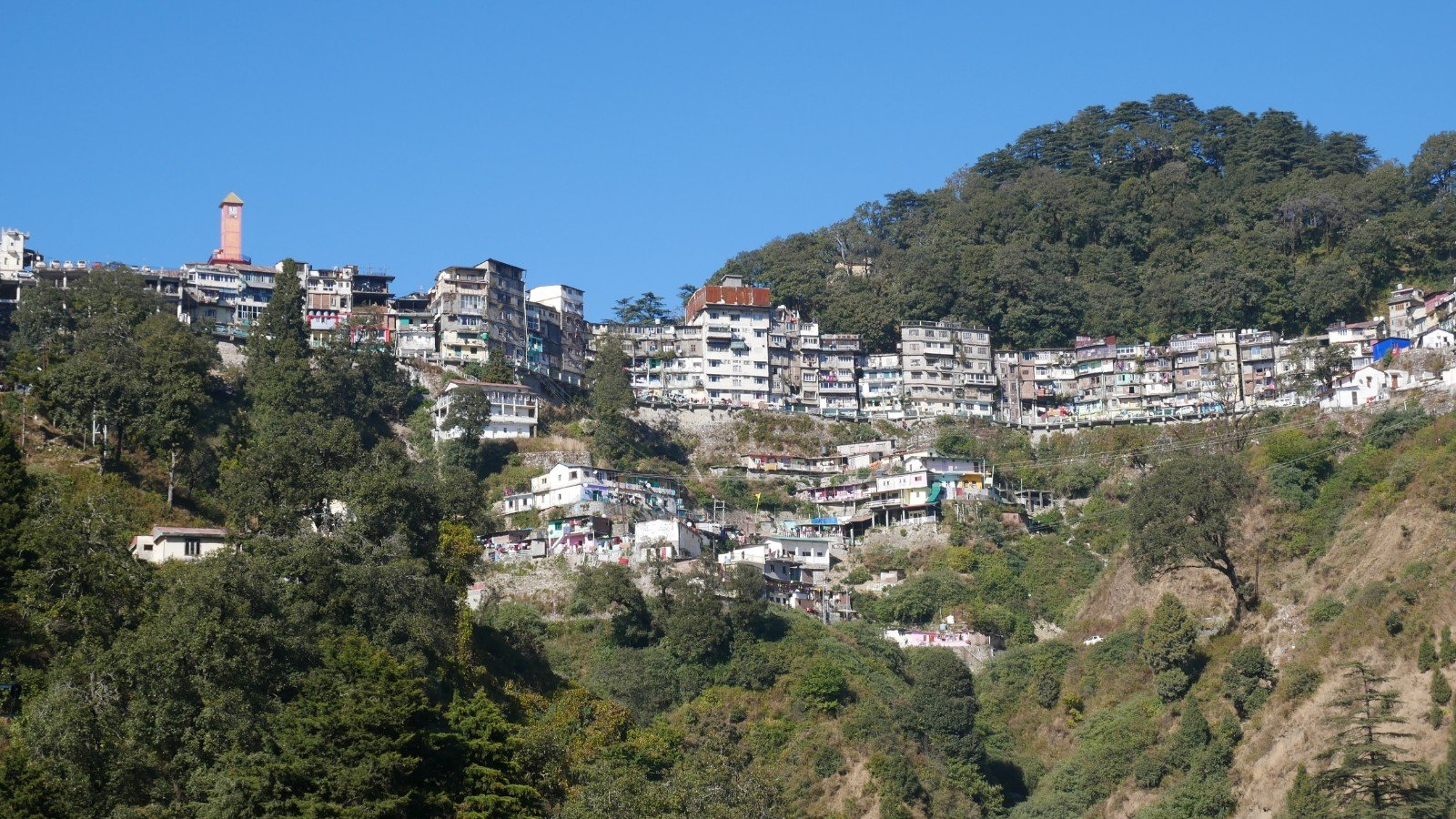 A View of Landour Hill Station