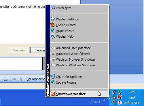 Wubi 8.04 - Fermeture de l\'utilitaire de nettoyage de Windows avant le redémarrage