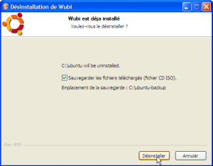 Wubi 8.04 - Désinstallation Ubuntu