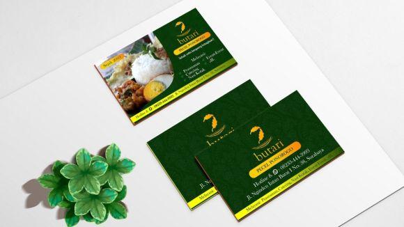 Contoh design kartu nama untuk katering