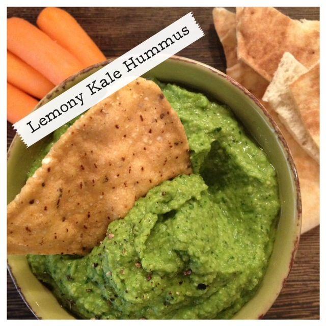 lemony kale hummus blog.katescarlata.com
