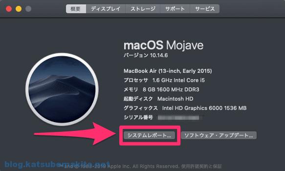 macOS 「このMacについて」