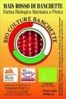 Etichetta mais rosso Banchette
