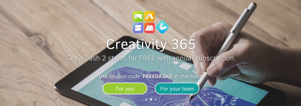 Get a free Dash 2 with Creativity 365 Annual Subscription