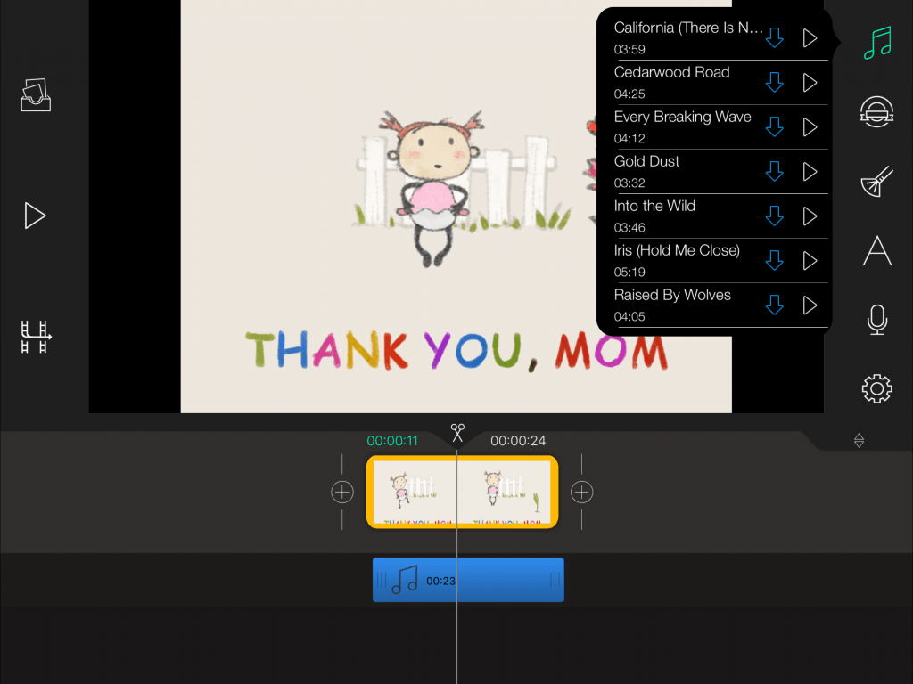 Add sound effect with Write-on Video