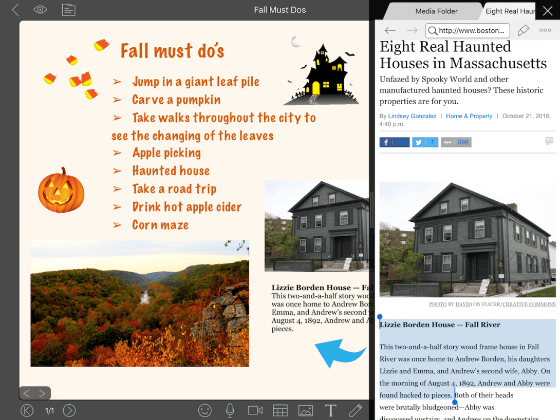 Fall bucket list with NoteLedge