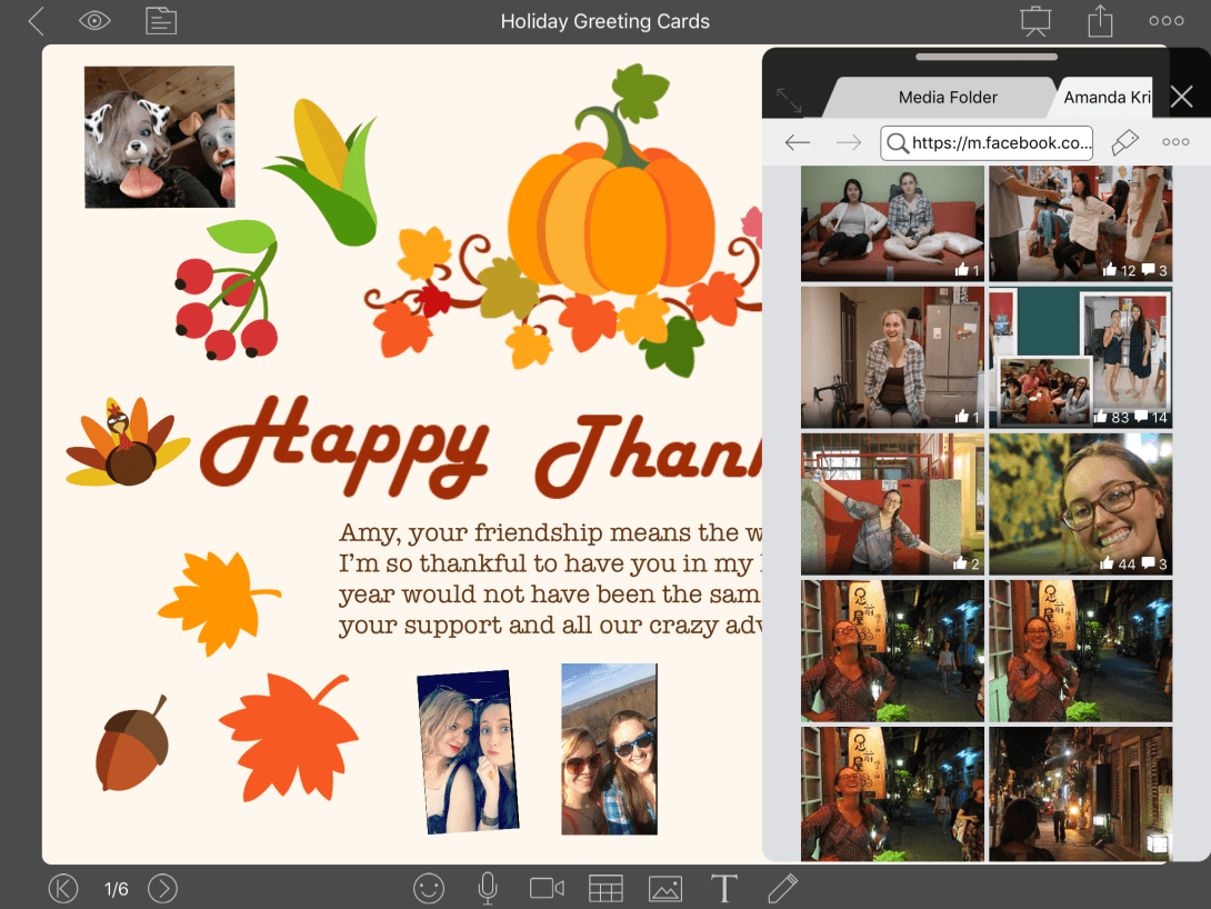 Example of Thanksgiving Image Card