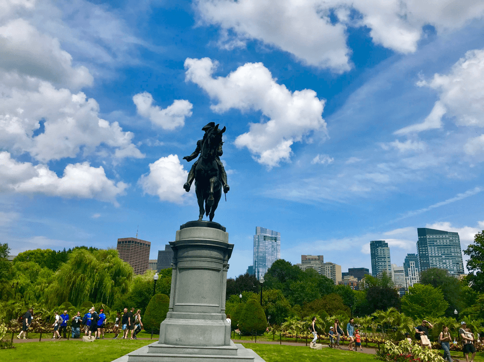 The George Washington Monument in the Boston Public Garden