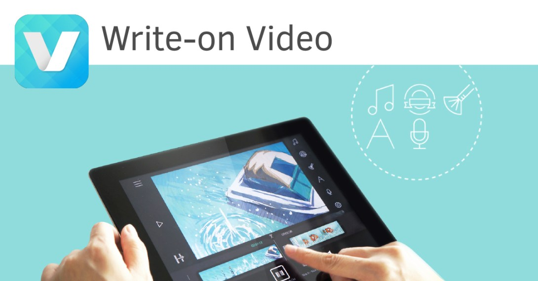 Write-on video