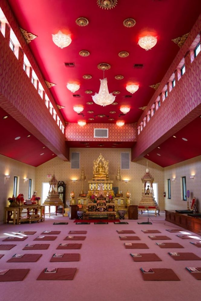 The interior of the Wat Mongkolratanaram, photographed by NYC photojournalist, Kelly Williams