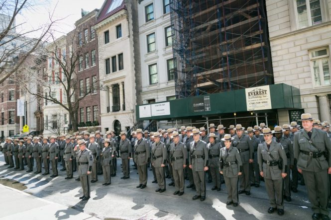 State police at the 2016 St. Patrick's Day Parade in NYC by photojournalist, Kelly Williams