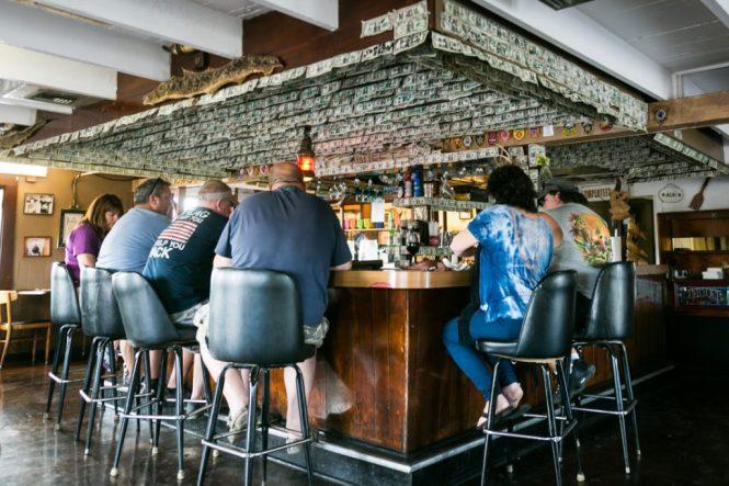 Bar patrons at Yeehaw Junction