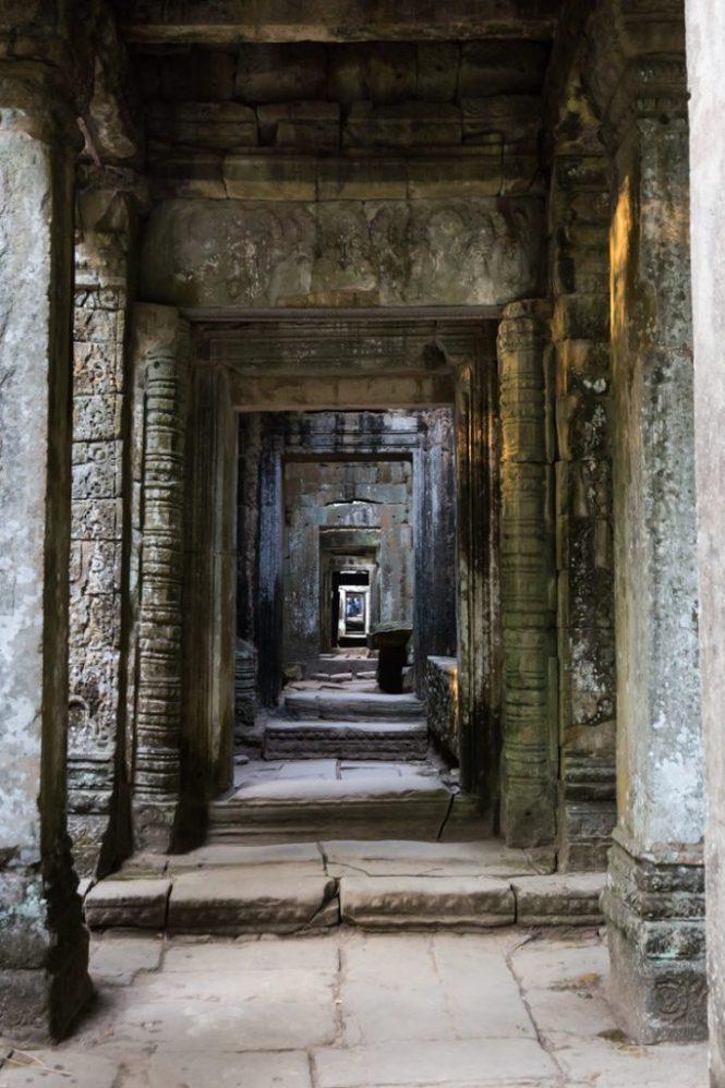 Doorway at Preah Khan for an Angkor Wat temple guide