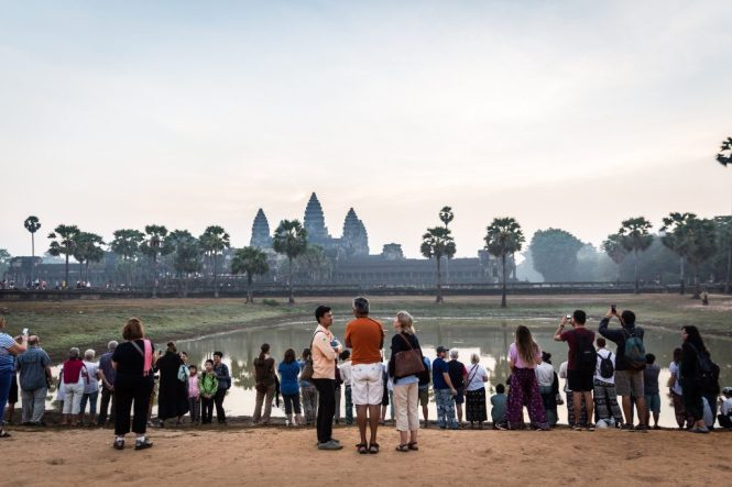 Crowds at an Angkor Wat sunrise