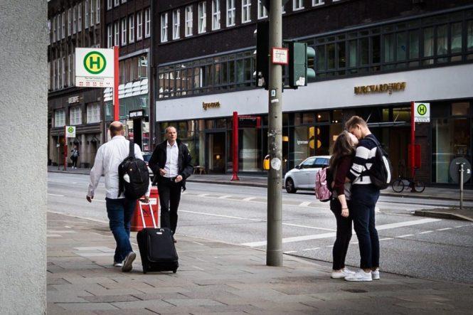 Street photography in Hamburg, Germany