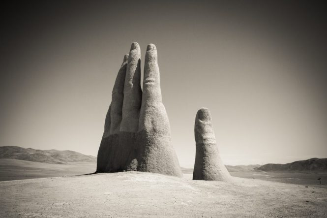 South America trip photo of the Hand in the Desert