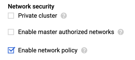 enable network policy