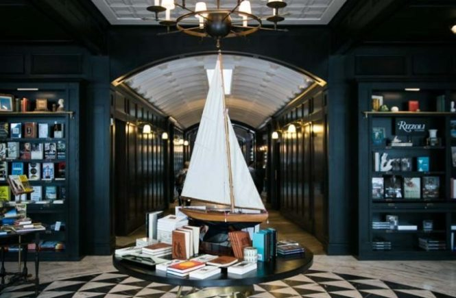 Sailboat in the entrance of the Oxford Exchange in Tampa, Florida