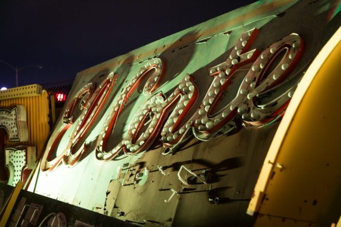 Neon sign in the Las Vegas Neon Boneyard Museum